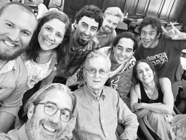 Fritjof and friends at Santiago